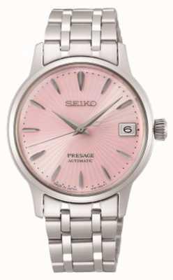 Seiko Presage | delle donne | bracciale in acciaio inossidabile | quadrante rosa SRP839J1