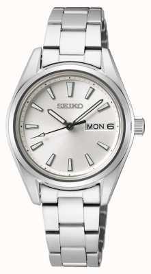 Seiko | delle donne | quarzo | bracciale in acciaio inossidabile | quadrante argentato SUR349P1