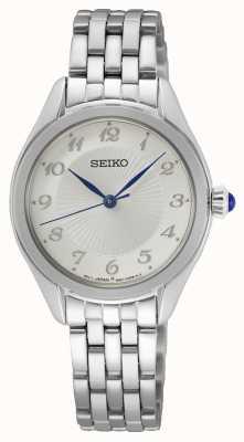 Seiko Quarzo da donna | bracciale in acciaio inossidabile | quadrante argentato SUR379P1