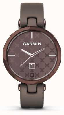Garmin Lily edizione classica | lunetta in bronzo scuro | caso paloma | cinturino in pelle italiana 010-02384-B0