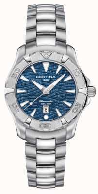 Certina Quadrante blu brillante da donna ds action C0322511104109