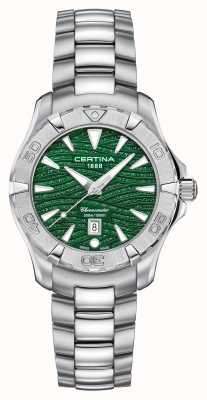 Certina Quadrante verde brillante da donna ds action C0322511109109