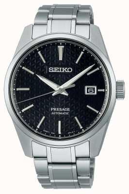 Seiko Quadrante nero serie presage sharp edge da uomo SPB203J1