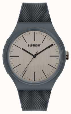 Superdry Quadrante grigio freddo soft touch in silicone grigio SYG344E