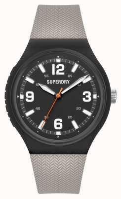 Superdry Quadrante nero opaco in silicone soft touch grigio caldo SYG345E