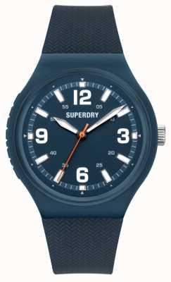 Superdry Quadrante blu opaco in silicone soft touch navy SYG345U