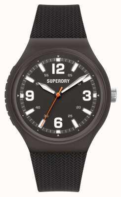 Superdry Quadrante nero opaco in silicone nero soft touch SYG345B