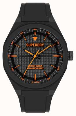 Superdry Quadrante nero soft touch in silicone nero SYG324B