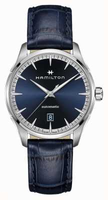 Hamilton Jazzmaster | auto | cinturino in pelle blu | quadrante blu H32475640