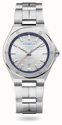Michel Herbelin Cap camarat | automatico | quadrante argento | bracciale in acciaio inossidabile 1645/B42