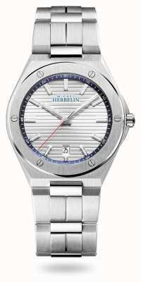 Michel Herbelin Cap camarat | quadrante argento | bracciale in acciaio inossidabile 12245/B42