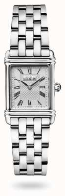 Michel Herbelin Art déco | bracciale in acciaio inossidabile | quadrante argentato 17478/08B2