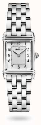 Michel Herbelin Art déco | bracciale in acciaio inossidabile | quadrante argentato 17478/22B2