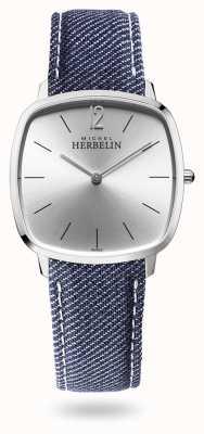 Michel Herbelin Città | quadrante argento | cinturino in denim blu 16905/11JN