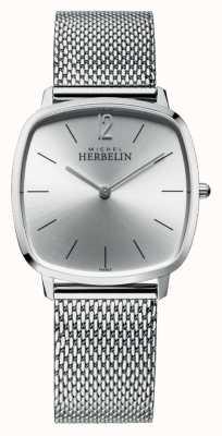 Michel Herbelin Città | quadrante argento | bracciale in maglia di acciaio inossidabile 16905/11B