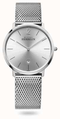 Michel Herbelin Città | bracciale in maglia di acciaio inossidabile | quadrante argentato 19515/11B