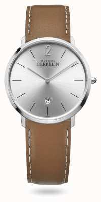 Michel Herbelin Città | cinturino in pelle marrone | quadrante argentato 19515/11GO