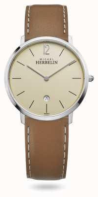 Michel Herbelin Città | cinturino in pelle marrone | quadrante champagne 19515/17NGO
