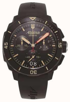 Alpina Seastrong diver 300 | cronografo | cinturino in silicone nero AL-372LBBG4FBV6