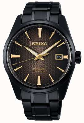 Seiko Presage sharp edge tokyo dawn ltd edition | bracciale in acciaio inossidabile nero | SPB205J1