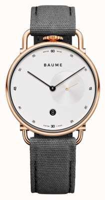 Baume & Mercier Baume | quarzo ecologico | quadrante bianco | cinturino posteriore in sughero grigio M0A10600