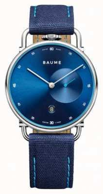 Baume & Mercier Baume | quarzo ecologico | quadrante blu | cinturino in sughero blu M0A10601