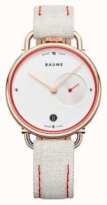 Baume & Mercier Baume | quarzo ecologico | quadrante bianco | cinturino rivestito in sughero bianco M0A10602
