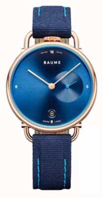 Baume & Mercier Baume | quarzo ecologico | cinturino in sughero blu M0A10603