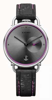 Baume & Mercier Baume | quarzo ecologico | quadrante grigio | cinturino in sughero nero M0A10604