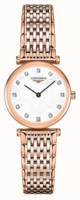 Longines Donna   la grande classique   quadrante con diamanti   bracciale in acciaio bicolore L42091977