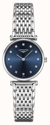 Longines Donna   la grande classique   quadrante blu diamante   acciaio inossidabile L42094976