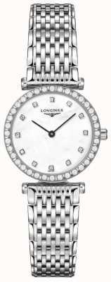 Longines Donna   la grande classique   quadrante bianco diamante   acciaio inossidabile L43410806