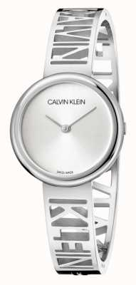 Calvin Klein Mania | bracciale in acciaio inossidabile | quadrante argento | taglia m KBK2M116