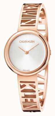 Calvin Klein Mania | acciaio pvd oro rosa | quadrante argento | taglia m KBK2M616