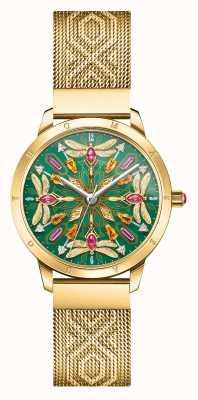 Thomas Sabo Glam & soul | bracciale in maglia color oro | libellula gemma d WA0369-264-211-33