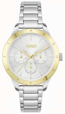 HUGO #amico | bracciale in acciaio inossidabile | quadrante argentato 1540090