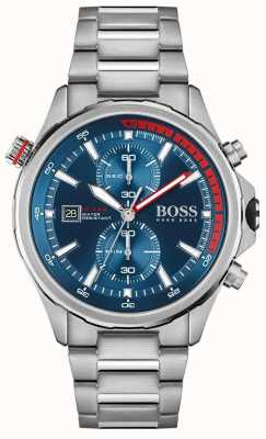 BOSS | globetrotter | uomo | bracciale in acciaio inossidabile | quadrante blu | 1513823