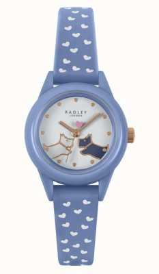 Radley Guardalo! | cinturino in silicone blu da donna | quadrante bianco RY21260