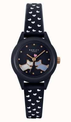 Radley Guardalo! | cinturino in silicone blu navy da donna | quadrante blu marino RY21262