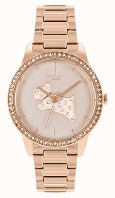 Radley | delle donne | bracciale in acciaio placcato oro rosa | quadrante in oro rosa con stampa cane | RY4556