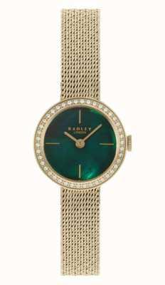 Radley | delle donne | bracciale in maglia placcato oro | quadrante in madreperla verde | RY4568