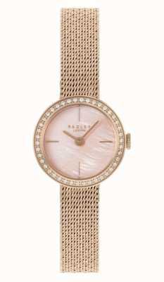 Radley | delle donne | bracciale in maglia placcato oro rosa | quadrante in madreperla rosa | RY4570