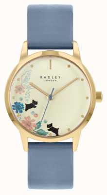 Radley Cinturino in pelle blu da donna | quadrante champagne RY21230A