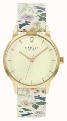 Radley Cinturino da donna in pelle floreale bianco | quadrante champagne RY21232A