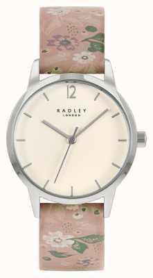 Radley Cinturino in pelle rosa floreale da donna | quadrante crema RY21231A