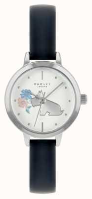 Radley Cinturino in pelle blu da donna | quadrante bianco RY21237A