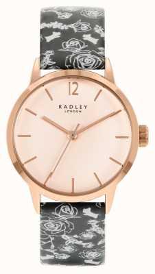 Radley Cinturino nero da donna | quadrante rosa RY21246A