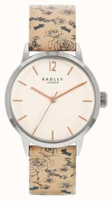 Radley | delle donne | cinturino in pelle con motivo beige | quadrante bianco | RY21245A