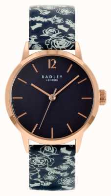 Radley Cinturino in pelle nera da donna | quadrante nero RY21250A