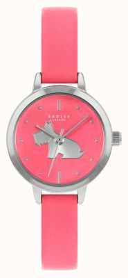 Radley Cinturino in pelle rosa brillante da donna | quadrante rosa RY21253A